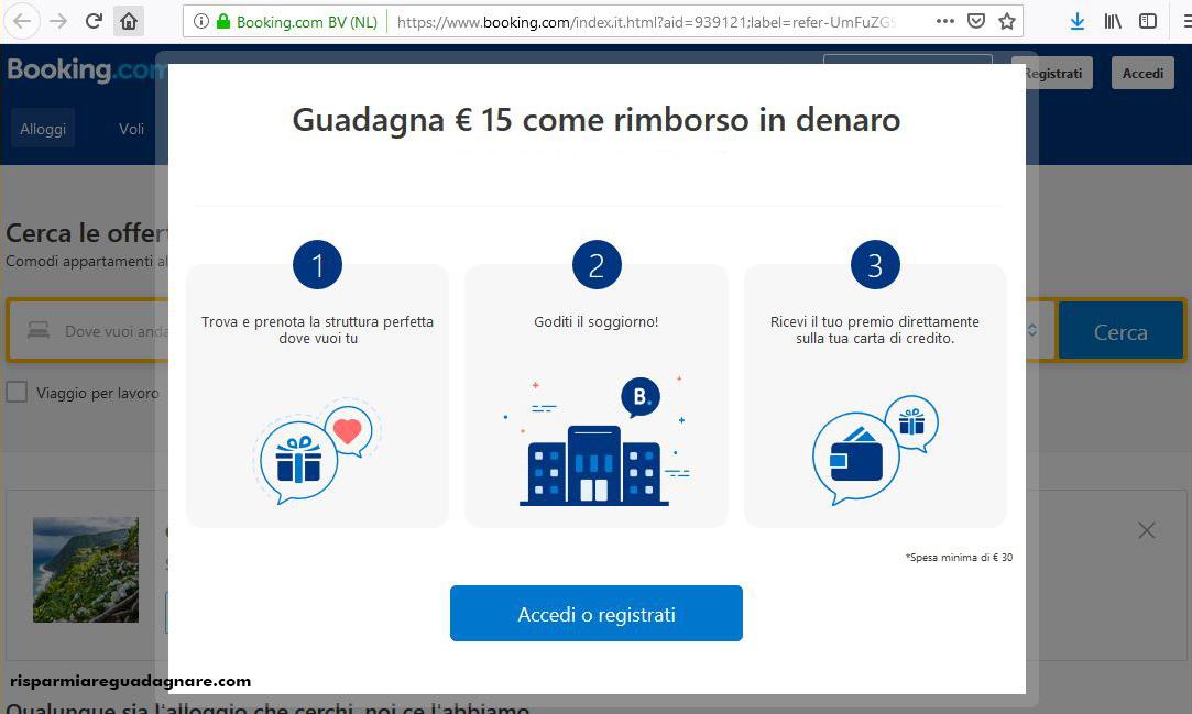 Ricevi Un Rimborso Di 15 Euro Prenotando Semplicemente Con Booking